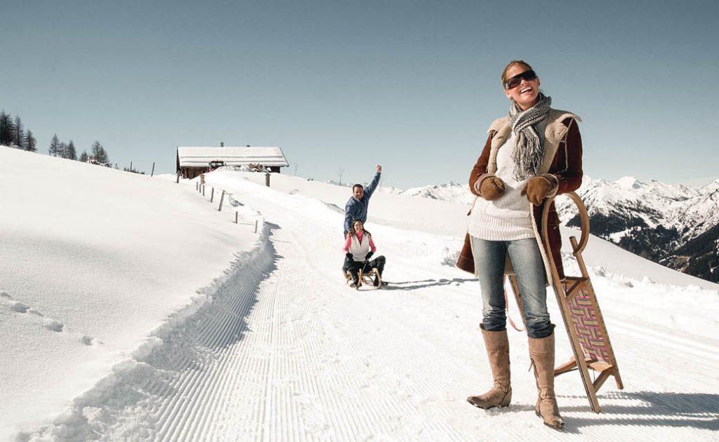 Rodeln winterurlaub salzburger land